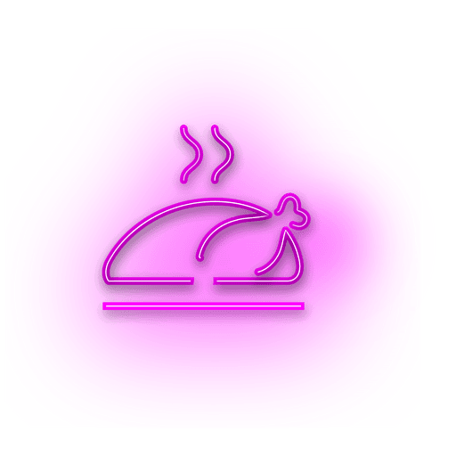 Neon lila Truthahn Symbol Transparent PNG