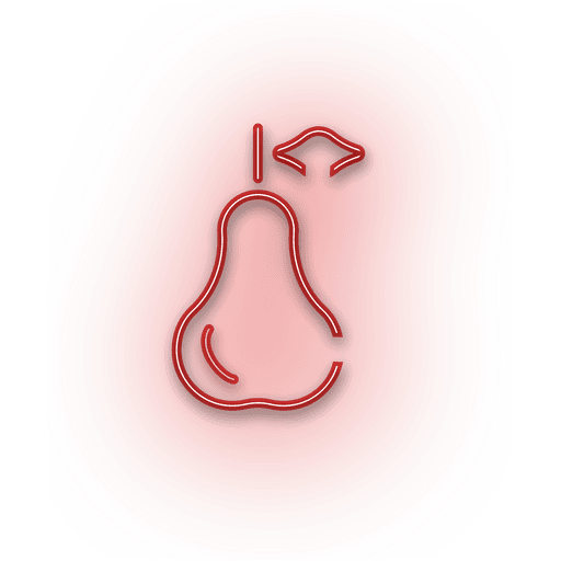 Neon red guava icon Transparent PNG