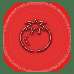Ícone de cebola vermelha de néon