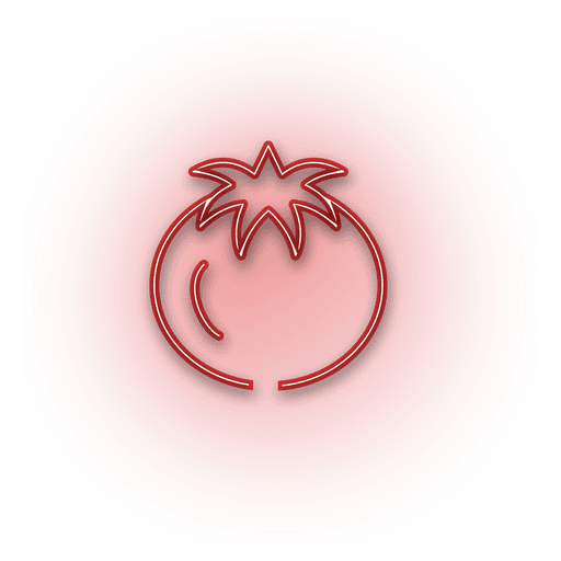 Neon red onion icon Transparent PNG