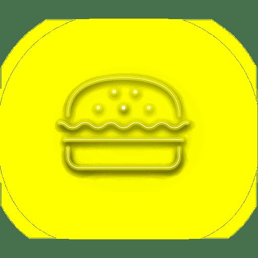 Icono de hamburguesa amarillo ne?n