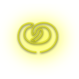 Neon yellow donut icon