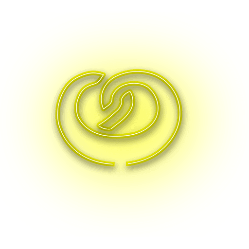 Neon yellow donut icon Transparent PNG