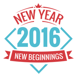 New biginnings year 2016 label