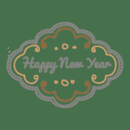 Doodle ornamentado de ano novo Transparent PNG