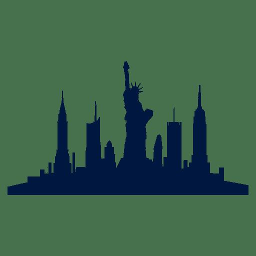 Horizonte da cidade de Nova York Transparent PNG