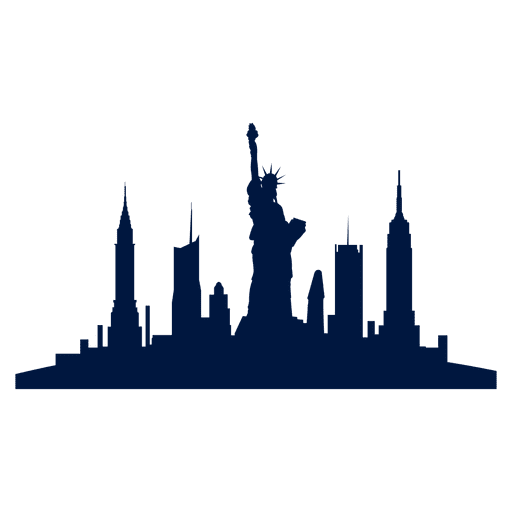 New york city skyline Transparent PNG