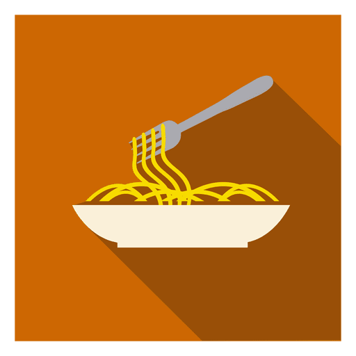 Noodles plate square icon Transparent PNG