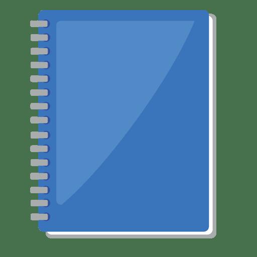 Icono plano del cuaderno Transparent PNG