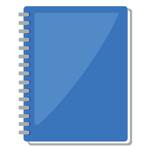 Book Cover Background Png : Note book icon plana baixar png svg transparente