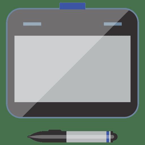 Icono plano del dispositivo portátil