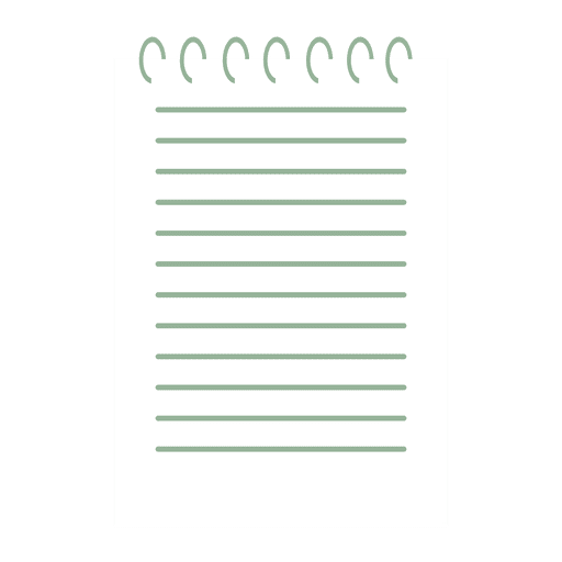 Notepad paper flat icon