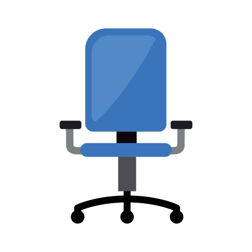 Vector de silla de oficina icono Transparent PNG