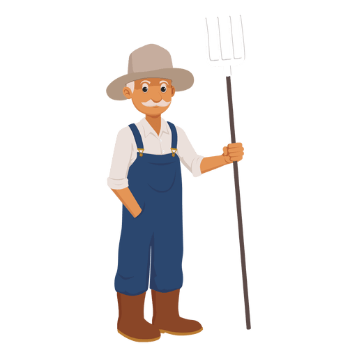 Old farmer cartoon Transparent PNG