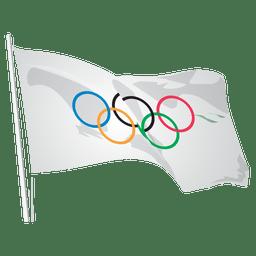 Bandeira do logotipo olímpico