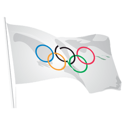 Olympic logo flag