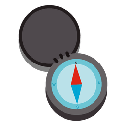Icono de viaje de brújula abierta