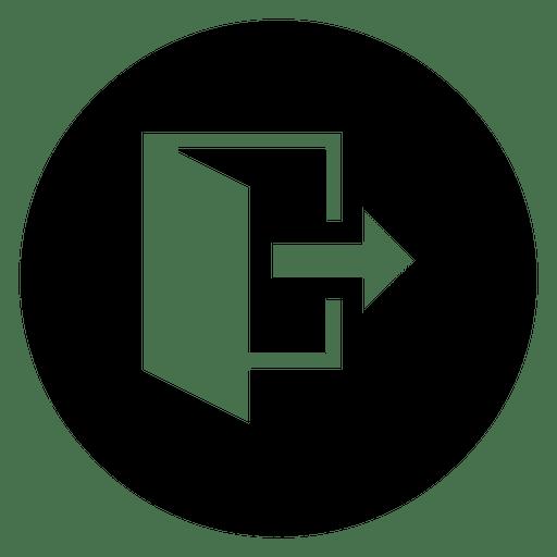 Icono de silueta de servicio redondo de archivo abierto