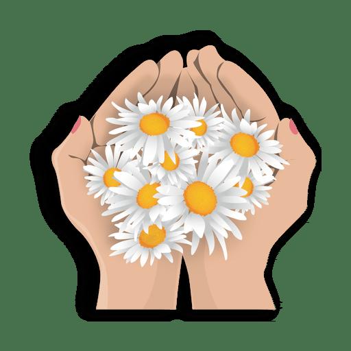 Open hand flowers