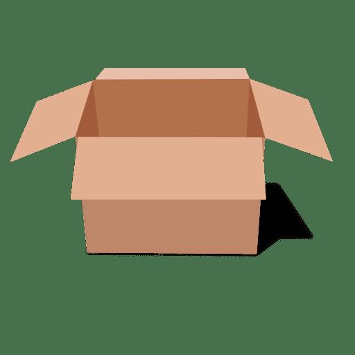 Open side view cardboard