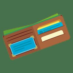 Ícone de carteira aberta