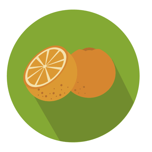 Orange circle icon Transparent PNG