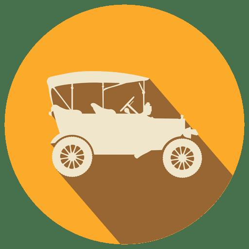 Orange circle retro car Transparent PNG