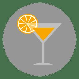 Ícone de copo de bebida laranja
