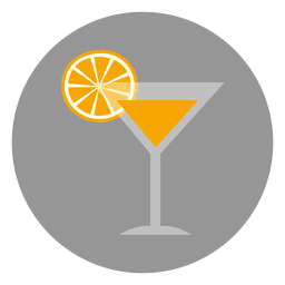 Orange drink glass icon
