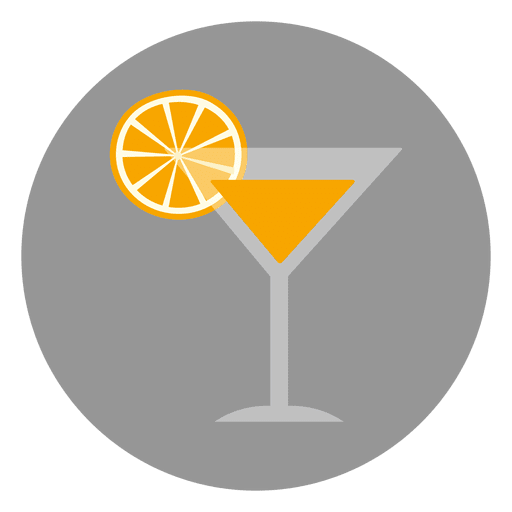 Orange drink glass icon Transparent PNG