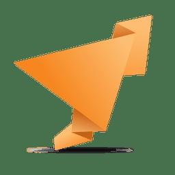 Bandeira de origami dobrado laranja
