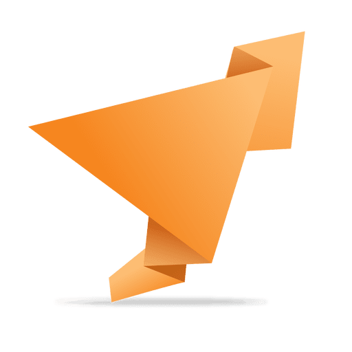 Orange folded origami banner Transparent PNG