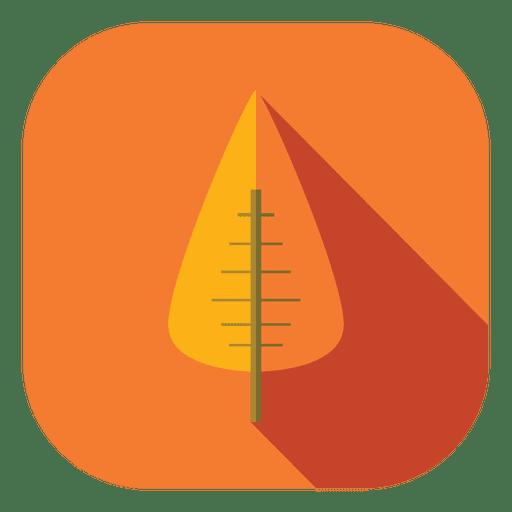 Orange leaf tree icon Transparent PNG