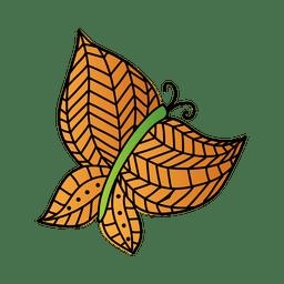 Decoracion lineas naranja mariposa