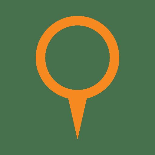 Marcador de localização do anel laranja Transparent PNG