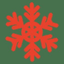 Icono de copo de nieve naranja