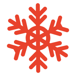 Orange Schneeflockensymbol