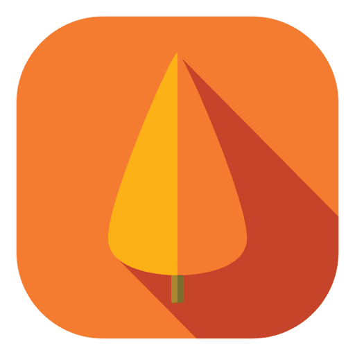 Orange two fold tree Transparent PNG
