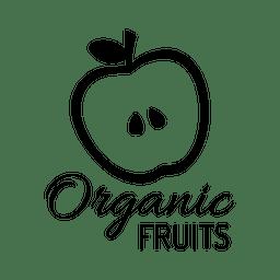 Etiqueta de fruta orgánica.svg