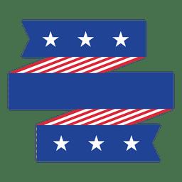 Origami dobló EE.UU. bandera