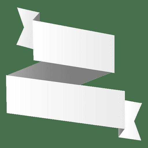 origami paper folded banner transparent png svg vector