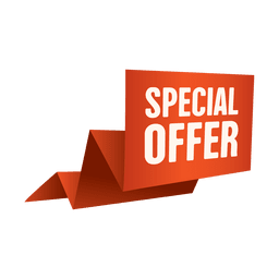 Bandeira de venda de oferta especial de origami
