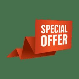 Banner de oferta de oferta especial de origami