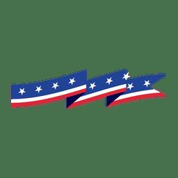 Fita de bandeira de origami EUA