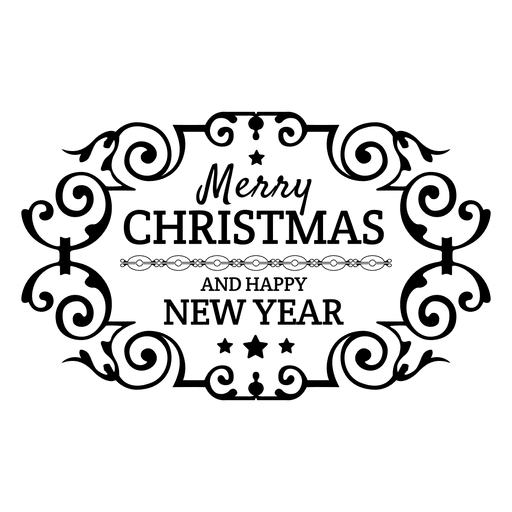 ornamented christmas new year label transparent png