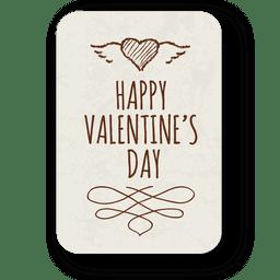 Etiqueta adornada del día de San Valentín