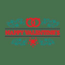 Emblema de San Valentín adornado
