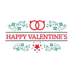 Ornamented valentine emblem