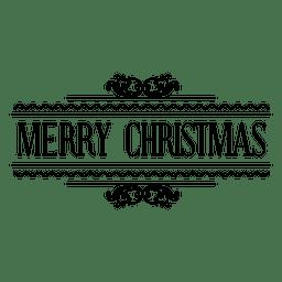 Selo de natal ornamentado