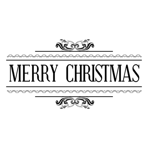 ornate christmas seal